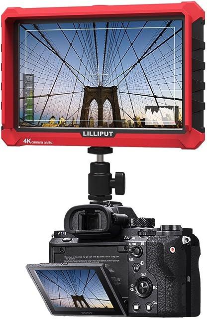 LILLIPUT A7S 7 Pulgadas 4K HDMI Entrada y Salida de Lazo Full HD 1920 * 1200 IPS Panel en la Parte Superior de la cámara Monitor de Apoyo Canon 5D Mark II Mark III Mark IV Nikon Sony α7s II α9