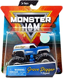 MJ Monster Jam Grave Digger The Legend 1:64 Scale with Figure