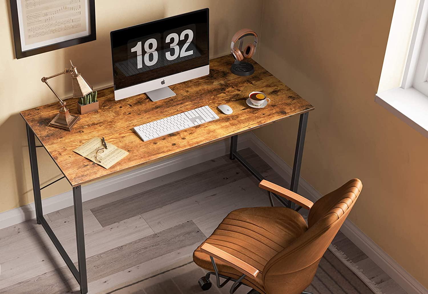Black Modern Simple Style Cubicubi Computer Desk 40 Home Office Laptop Desk Study Writing Table