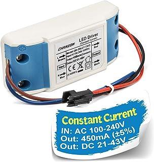 Chanzon LED Driver 450mA (Constant Current Output) 21V-43V (Input 100-240V AC-DC) (7-13) x2W Power Supply 450 mA Lighting Transformer Drivers for High Power COB Light Lamp Bulb (Plastic Case)