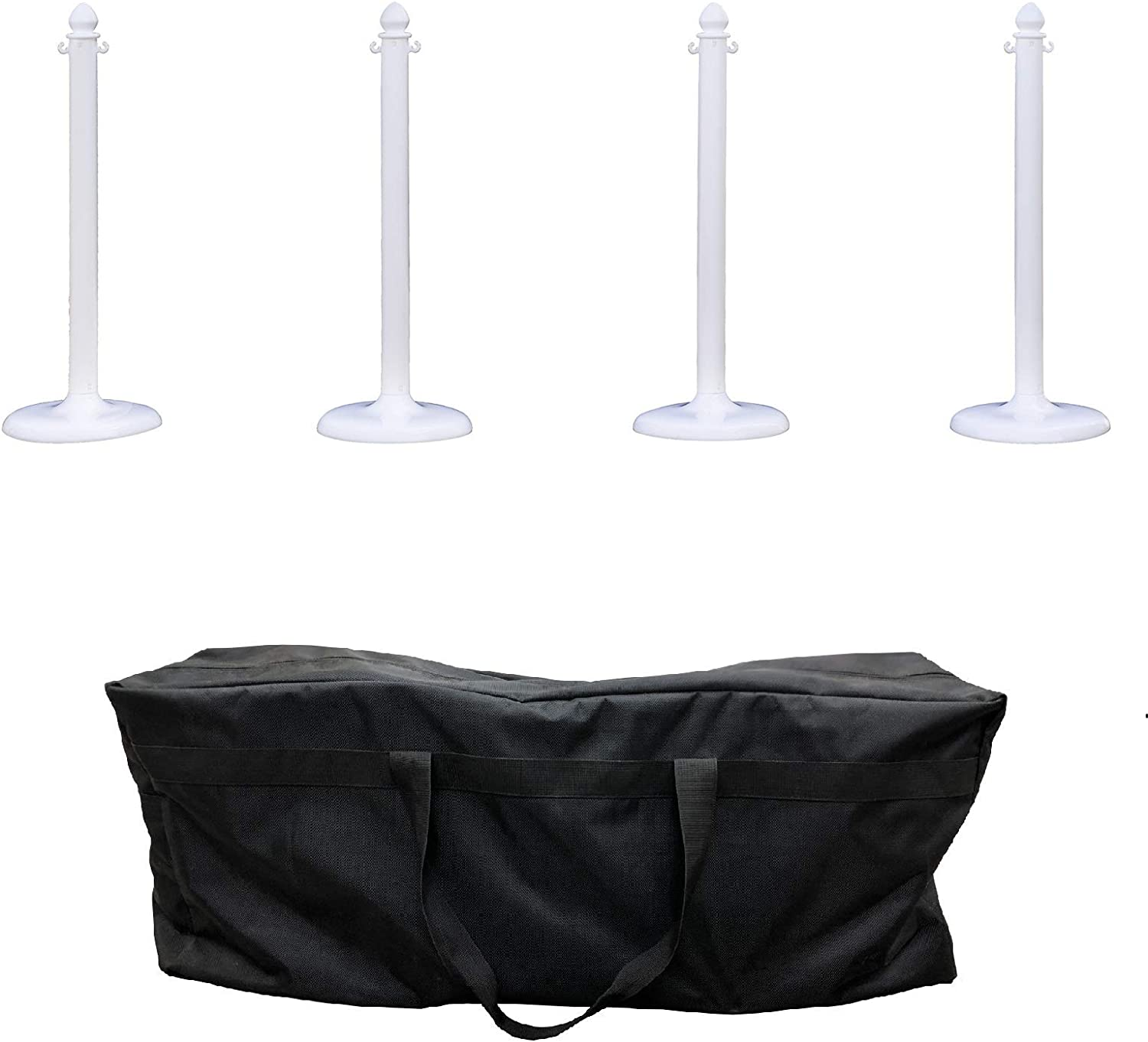 Max 56% OFF Seasonal Wrap Introduction Plastic Stanchion w bag Crowd Control Up with White Center New