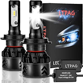 LTPAG Bombilla H7 LED Coche, 2pcs 72W 12000LM Lampara H7 LED