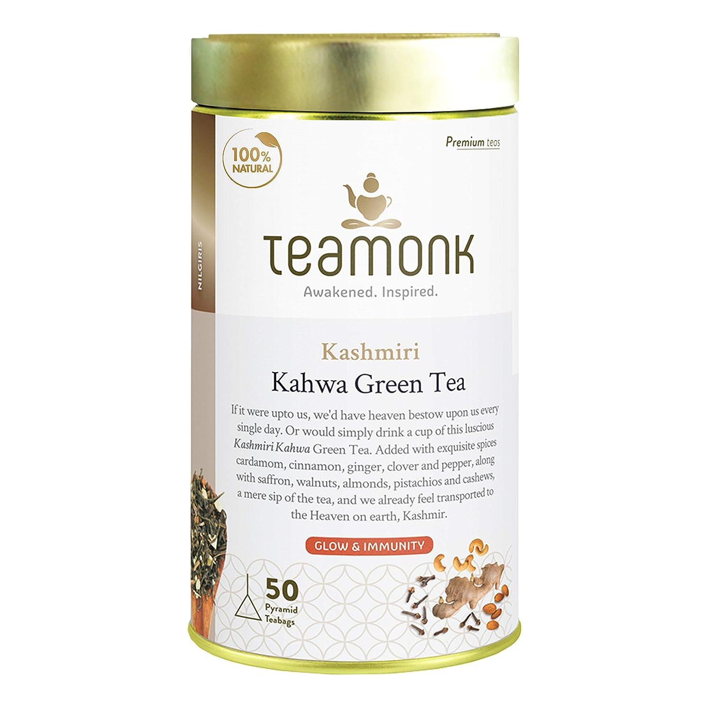 Teamonk Premium High Mountain Kashmiri Kahwa San Francisco Free shipping / New Mall 50 - Bags Tea Green