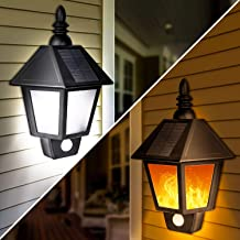 Amazon Com Solar Sconce Lights Outdoor