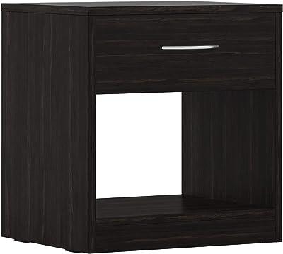 Amazon Brand - Solimo Mars Engineered Wood Bedside Table with drawer (Wenge Finish)