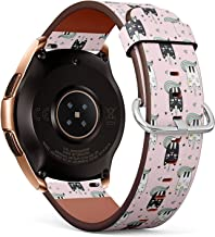 Compatible with Samsung Galaxy Watch (42mm) - Leather Watch Wrist Band Strap Bracelet with Quick-Release Pins (Cute Caticorns)