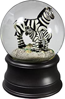 Zebra Mom Water Globe from San Francisco Music Box Company