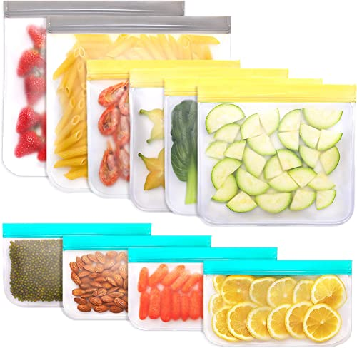 wholesale Jagrom 10 Pack Reusable wholesale Storage Bags 2 Gallon & 4 Sandwich Lunch Bags & 4 Small Kids Snack popular Bags For Food, EXTRA THICK Leak Proof Reusable Food Bags, Freezer Bags, Reusable Ziplock Bags, BPA FREE sale