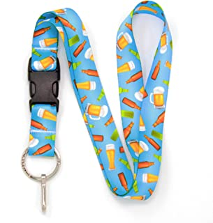 Buttonsmith Beer Premium Lanyard - with Buckle and Flat Ring - Made in The USA