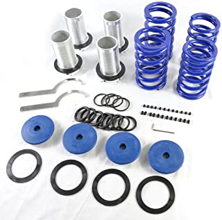 Adjustable Coil Over Sleeve Springs Lowering Scaled Suspension Kit for Honda 1990-2002 Accord & 1988-2000 Civic & 1993-1997 Civic del Sol & 1988-1991 CRX & 1992-2001 Prelude 1990-2001 Acura Integra