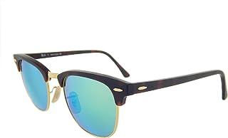 f6429cbcfa Ray Ban Gafas de sol Clubmaster Flash RB3016 114519, marco tortuga/gris,  espejo