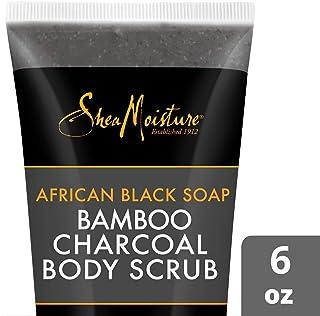 SheaMoisture African black soap bamboo charcoal body scrub exfoliate, 6 Ounce