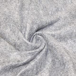 """AK TRADING CO. 72-Inch Wide 1/16"""" Thick Acrylic Felt Fabric for Arts & Crafts, Cushion and Padding, Sewing Projects, Kids School Projects, DIY Projects & More. - Heather Silver, 5 Yards"""