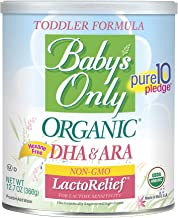 Baby's Only LactoRelief with DHA & ARA Toddler Formula - Non GMO, USDA Organic, Clean Label Project Verified, 12.7 oz (Pack of 6)