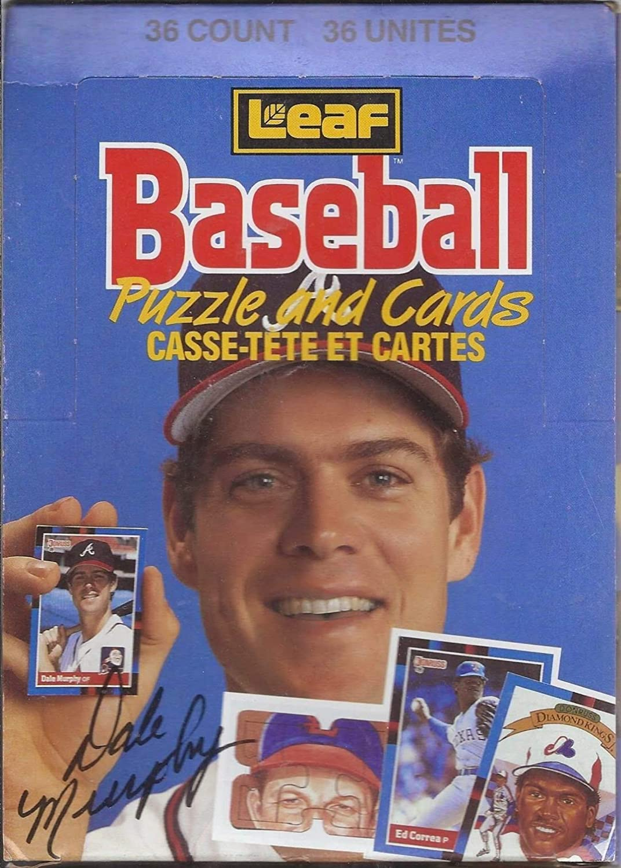 1988 Leaf - Baseball Puzzle and Cards Box (1988 Leaf - Baseball Puzzle and Cards Box)