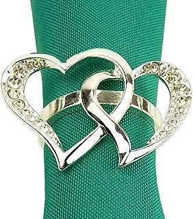 heart shaped napkin rings