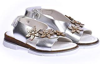 Kiko Şb 22722440-49 Ortopedik Kız Çocuk Bebe Sandalet Terlik Gümüş