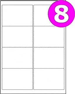 Office Depot–Juego de 21etiquetas de dirección de envío por hoja A4para impresora/fotocopiadora láser Inkjet Label Size:8 labels - 5 Boxes (500 Sheets)