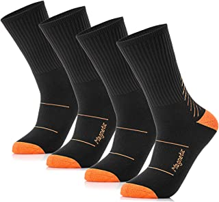 Chooee Men's Cotton Moisture Wicking Socks,Firm Compression Athletic Crew Socks