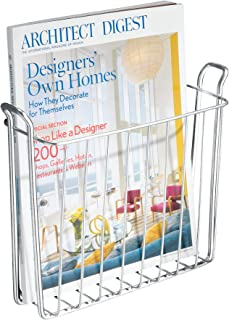 iDesign Classico Metal Wall Mount Magazine Rack, Newspaper and Book Holder for Bathroom, Office, Bedroom, Den, 10.5