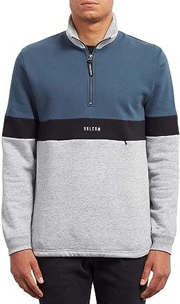 Volcom  Rixon Mock 1 4 Zip Sweatshirt  Stone