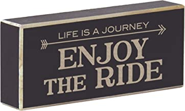 Rustic Wood Magnet Inspirational Saying Laser Engraved Life is a Journey Enjoy The Ride (Rustic Black)