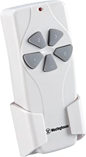 Westinghouse Lighting 7787000 Ceiling Fan and Light Remote Control, White