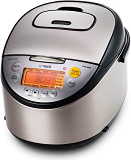 Tiger JKT-S18U 10-Cup (Uncooked) Multi Purpose IH Cooker (Rice Cooker, Synchro-Cooker, Slow Cooker, Bread Maker, etc.) with Tacook Cooking Plate (Renewed)