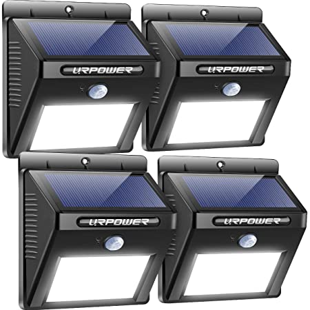 Upgraded 3 Modes Wide Angle Solar Lights 4 PACK URPOWER Solar Lights Outdoor