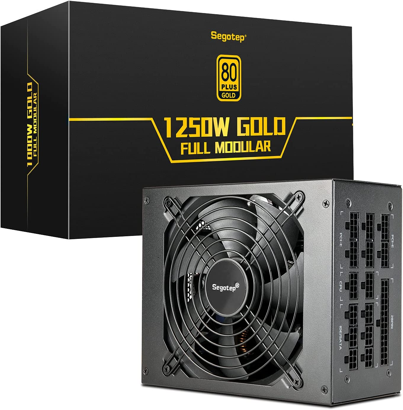 Segotep 1250W Power Supply Fully Modular 140mm PSU Long-awaited 80+ Trust with Gold