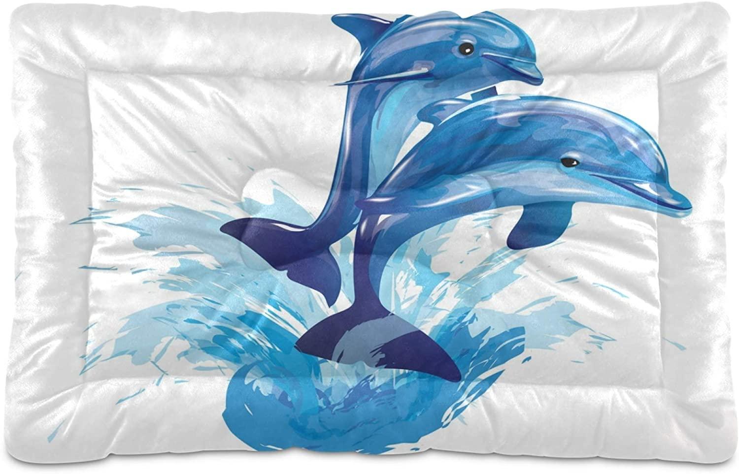 KEEPREAL Dolphin Jumping Dog SEAL limited OFFicial site product Bed Cat Comfortable Rectangle