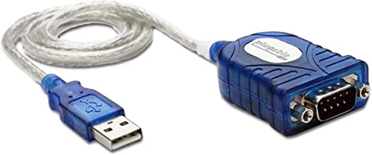 Plugable USB to Serial Adapter Compatible with Windows, Mac, Linux (RS-232DB9 Female Connector, Prolific PL2303HX Rev. D Chipset)