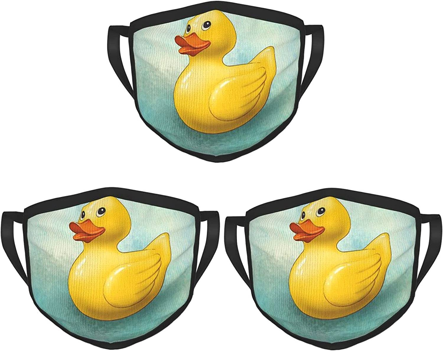 Balaclava Earmuffs Yellow Duck Swim In Blue Lake Face Mouth Cover Mask Reusable Windproof Scarf Towel Cover Headwrap