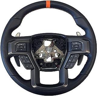 طقم عجلة القيادة M-3600-F15ROR من Ford Performance Parts M/Style; جلد أسود مع خياطة برتقالية/منظرة برتقالية؛ بما في ذلك سَ...