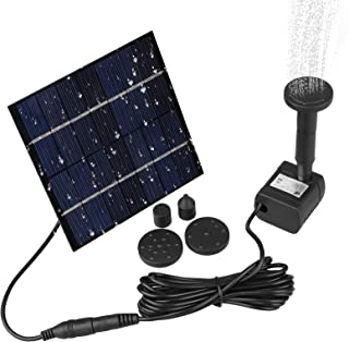 Sunjoyco Solar Water Pump, Solar Powered Fountain Pump for Bird Bath 1.2W Solar Panel Kit Outdoor Solar Water Fountain with 4 Sprinkler Heads for Small Pond, Pool, Fish Tank, Patio Garden and Lawn