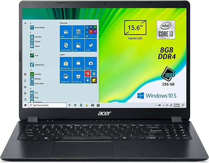 Pc portatile acer aspire 3 a315-56-3274 notebook con processore intel core i3-1005g1 ram 8 gb ddr4