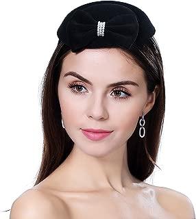 homy Fascinator Hats Feather Fascinators for Women Pillbox Hat Headband for Wedding Derby Tea Party Race