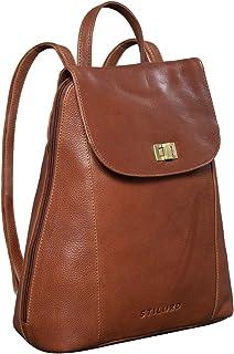 STILORD 'Victoria II' Lederrucksack Damen Vintage Rucksack für 13 Zoll MacBook DIN A4 Elegante Rucksackhandtasche für City...