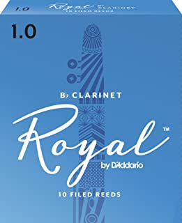 Royal by D'Addario RCB1010 Bb Clarinet Reeds, Strength 1.0, 10-pack