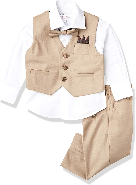 Isaac Mizrahi Baby Boys' 4-Piece Solid Vest Set