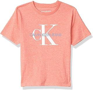 Calvin Klein Playera de Cuello Redondo con Logotipo CK clásico Camiseta para Niños