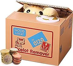 Auped Money Box Moneda Hucha Electrónica Automática Gato Amarillo Savings Bank Regalo significativo para niños.