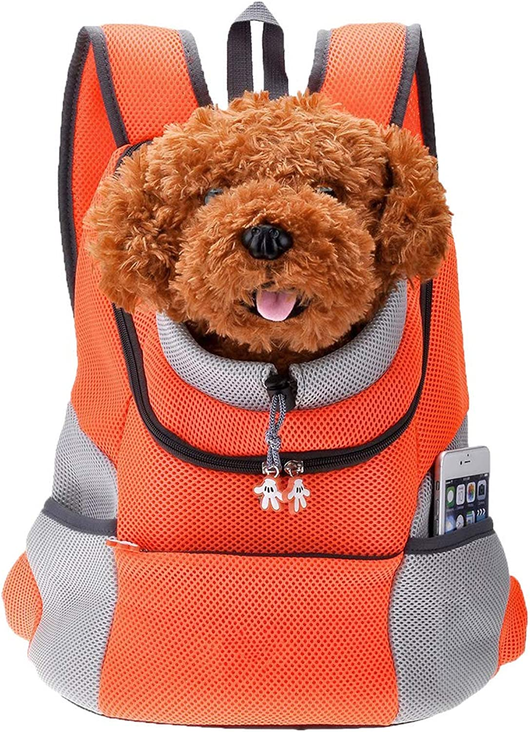 Pet Backpack Pet Front Carrier Comfortable e Durable Brahm Outdoor Travel Backpack (Orange)