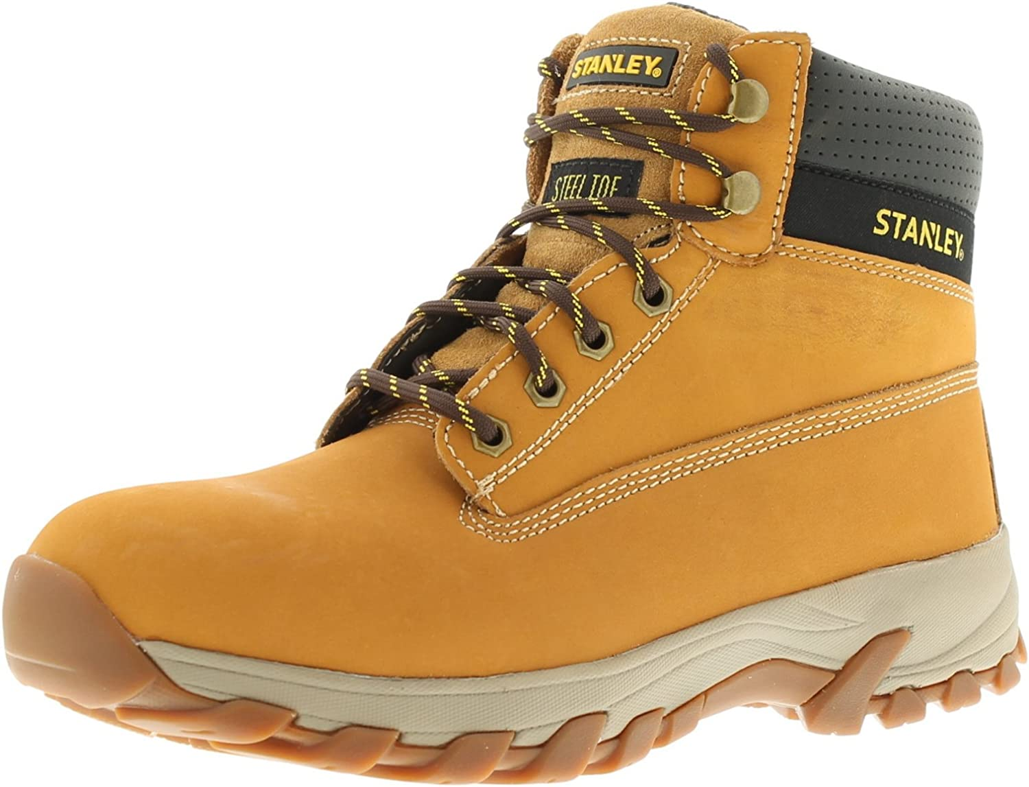 Stanley Hartford Mens Nubuck Leather Material Safety Boots Honey