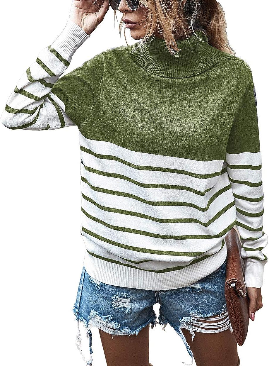 KIRUNDO 2021 shop Women's Max 43% OFF Turtleneck Sweater Sleeve Knitted Long