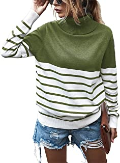 2020 Women's Turtleneck Knitted Sweater Long Sleeves...