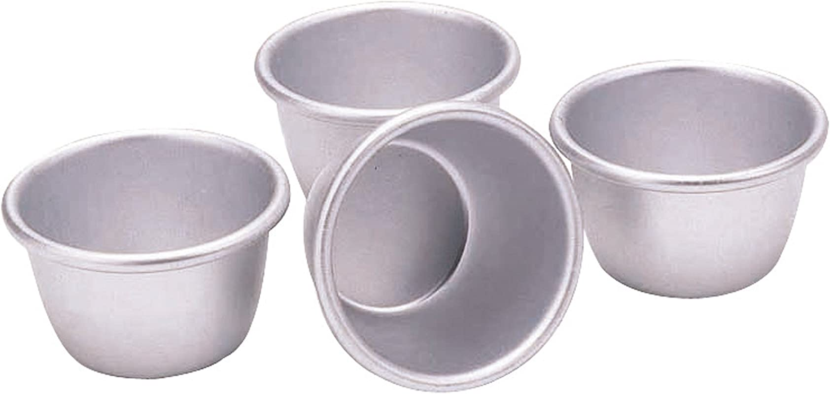 7 5cm Set Of 4 Anodised Mini Pudding Moulds