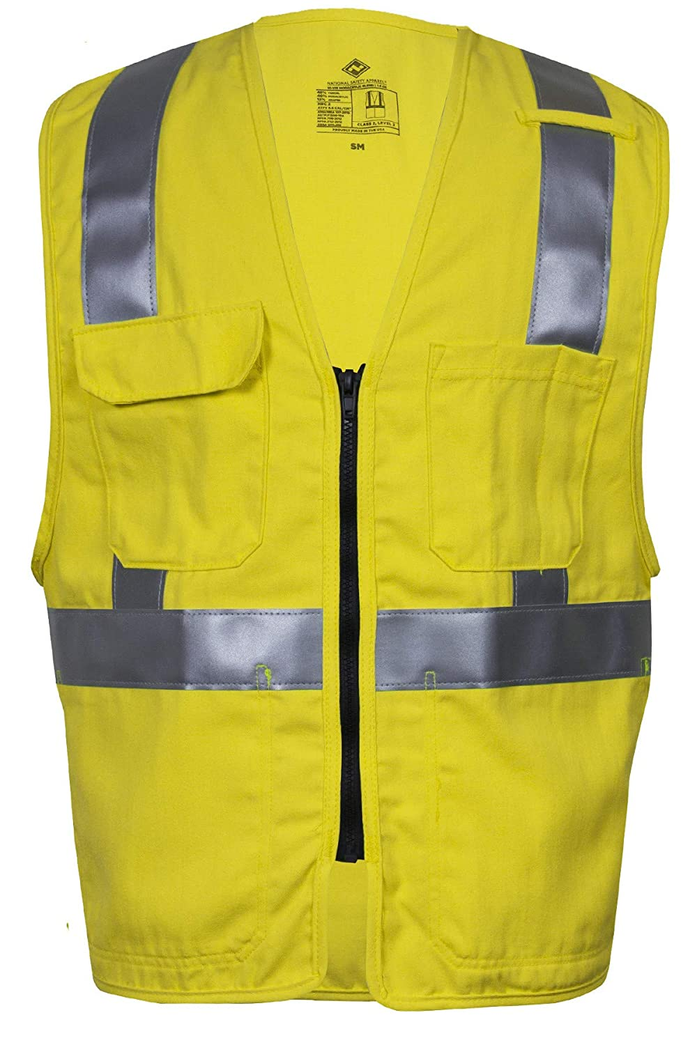 Same day shipping National Ranking TOP11 Safety Apparel V21TV2ZLG Deluxe FR Hi-Vis 2 Class Safet