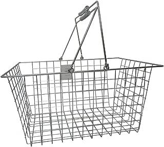 アビテ(Habiter) 収納かご クロムワイヤーバスケット L SWZ-003-AA