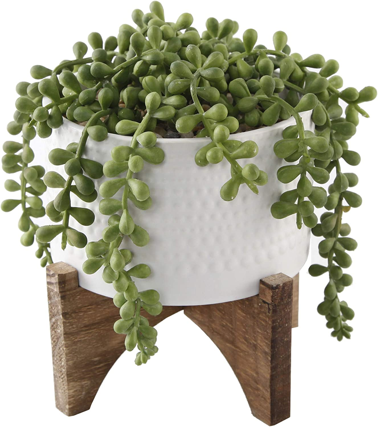 New Max 80% OFF Orleans Mall Flora Bunda Artificial Succulent Faux Plant String Pea 5 of inch